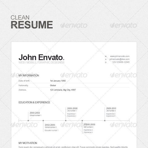 Resume - Clean