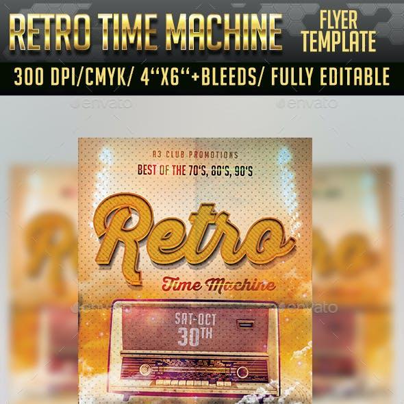 Retro Time Machine Flyer