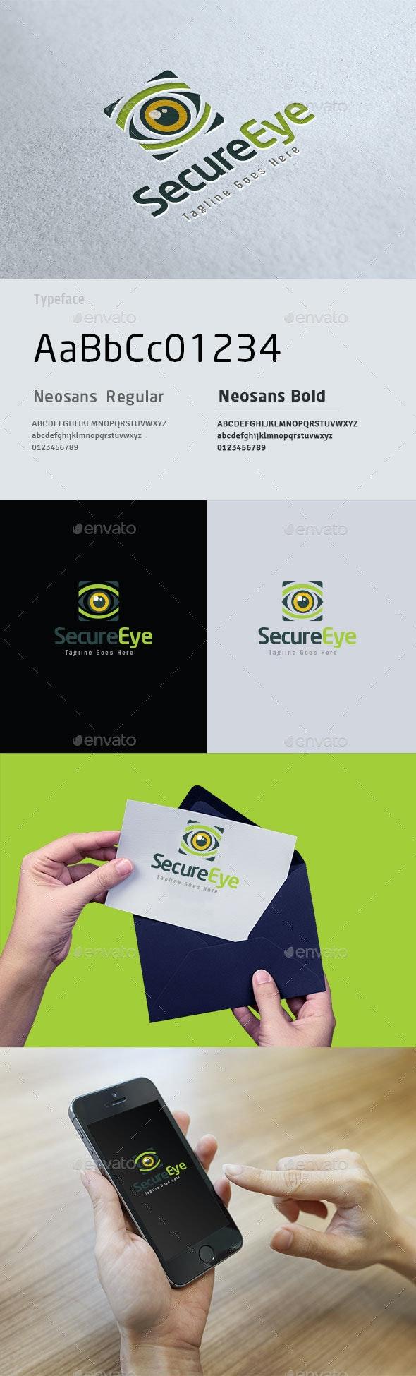 Secure Eye App Logo - Symbols Logo Templates
