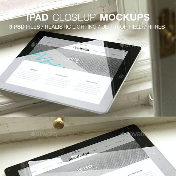 iPad Closeup Mockups Window