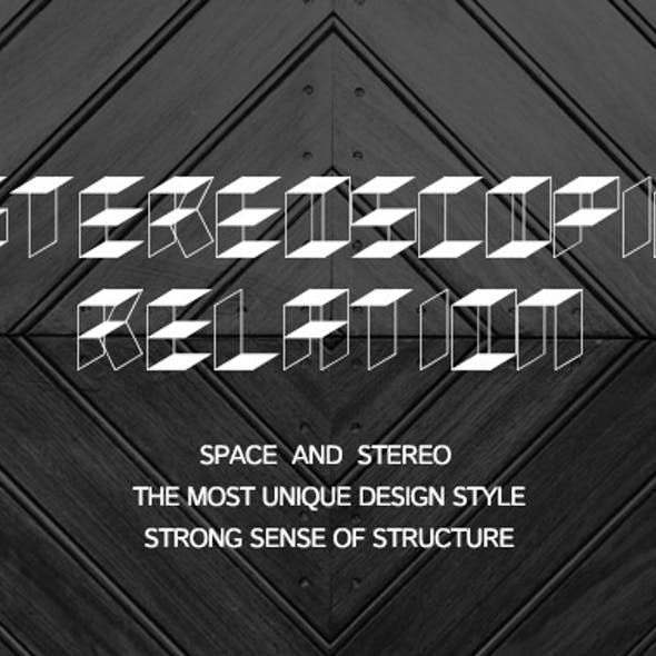 Stereoscopic relation-New font