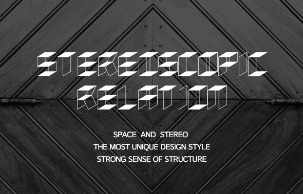 Stereoscopic relation-New font - Cool Fonts