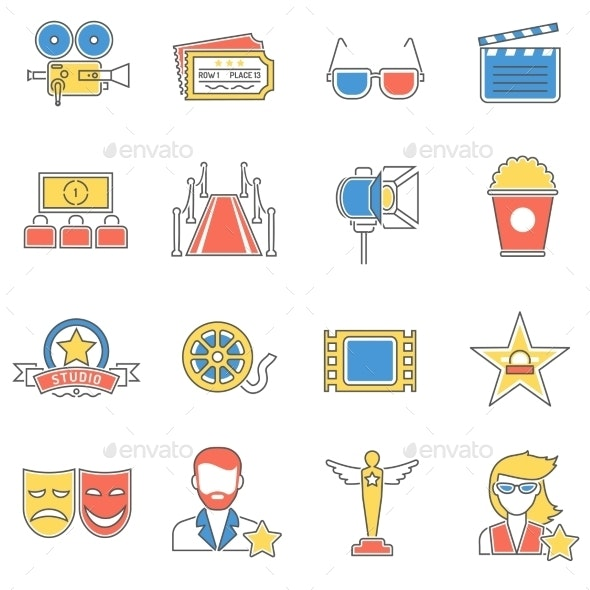 Movie Icons Line - Miscellaneous Icons