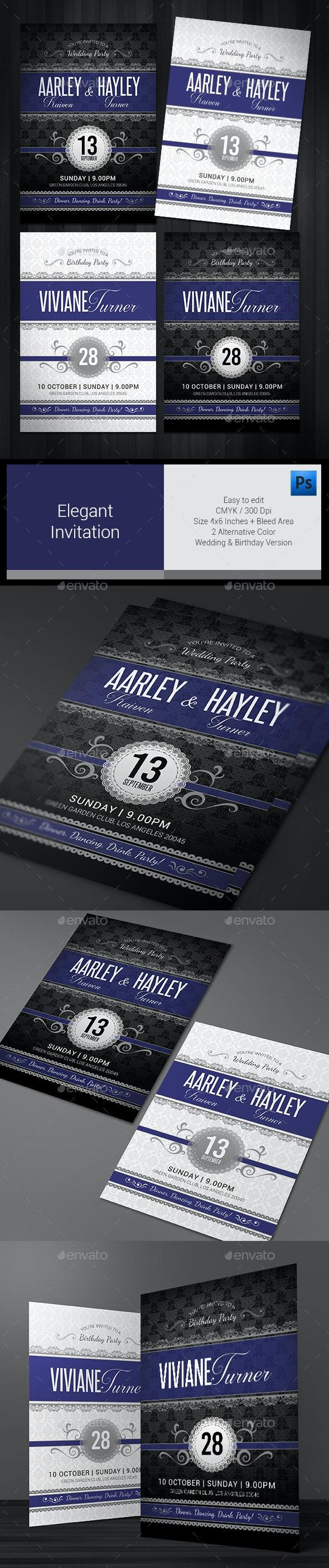 Elegant Invitation  - Invitations Cards & Invites