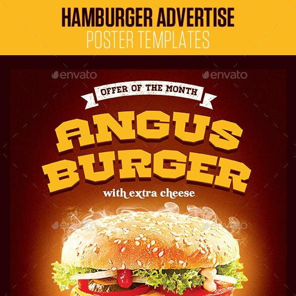 Hamburger Advertise Posters