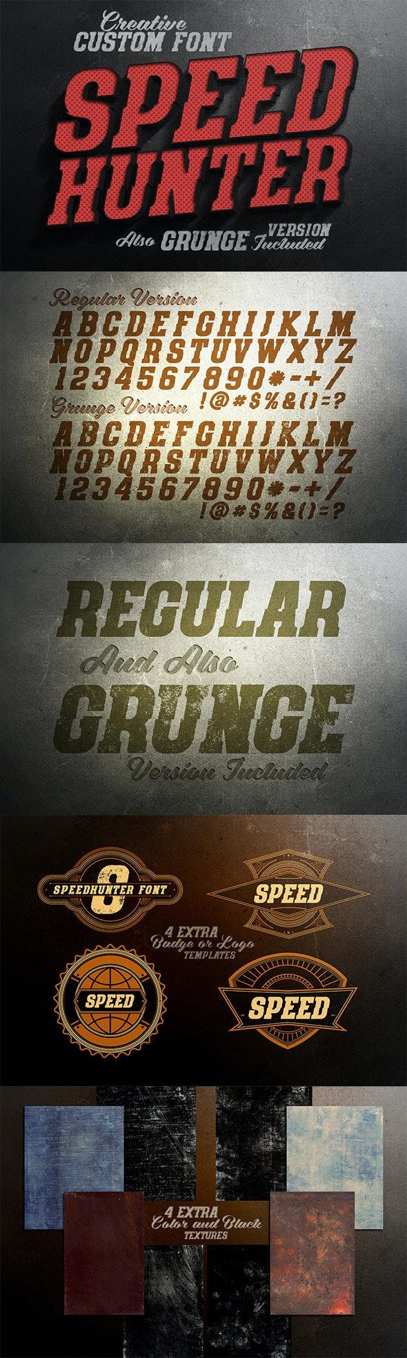 SpeedHunter Custom Font - Miscellaneous Serif