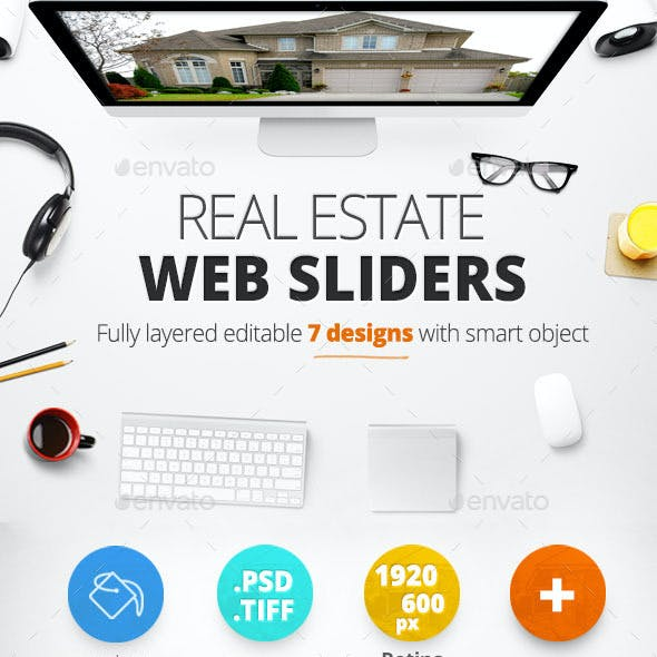 Real Estate Web Sliders 7 designs
