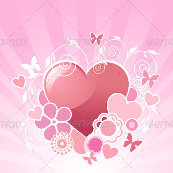 Valentine heart design
