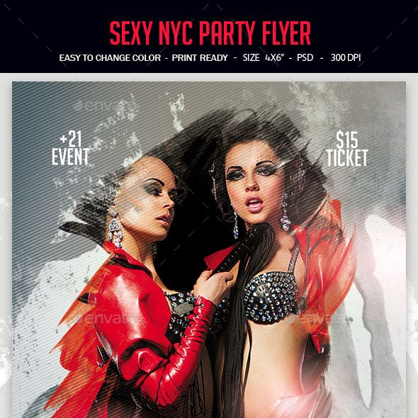 Sexy NYC Party Flyer