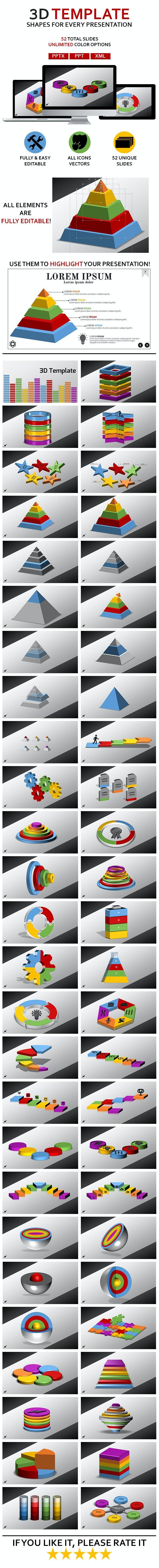 3D Shapes - Miscellaneous PowerPoint Templates