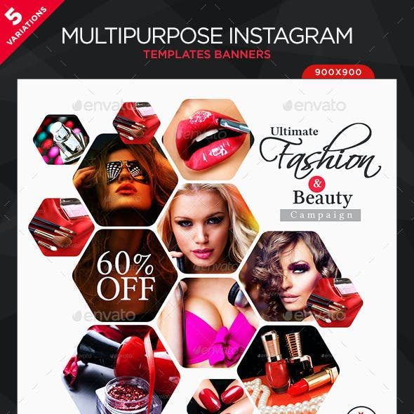 Multipurpose Instagram Templates - 5 Designs