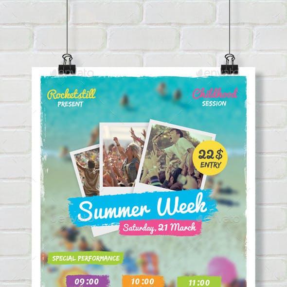 Summer Week Event Flyer