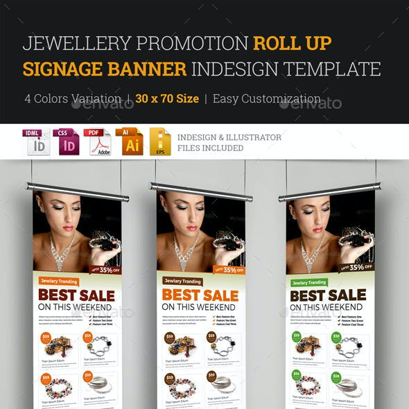 504f6eb1e Jewellery Roll Up Banner Graphics, Designs & Template
