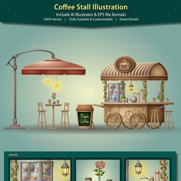 Coffee Stall Illustration