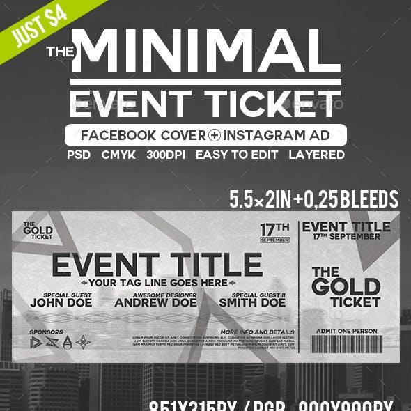 Minimal Event Ticket