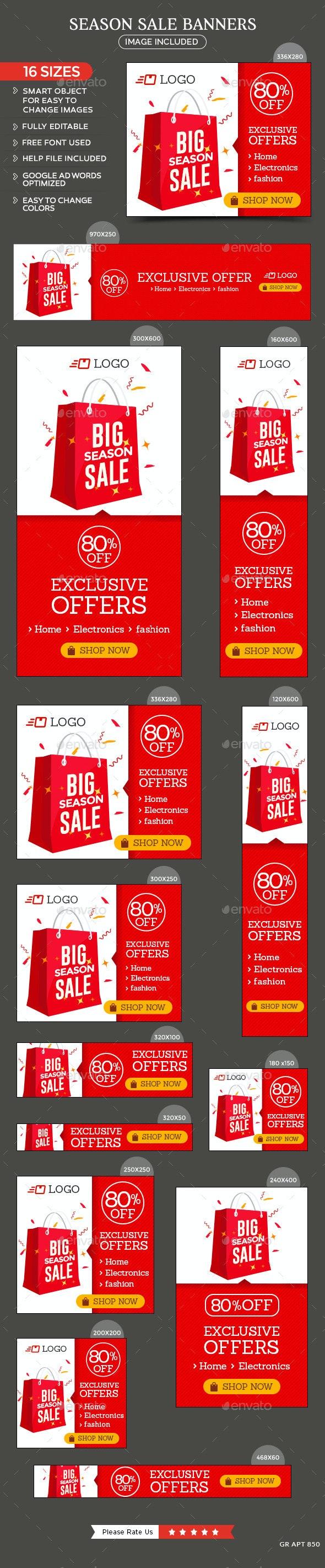 Season Sale Banners - Banners & Ads Web Elements