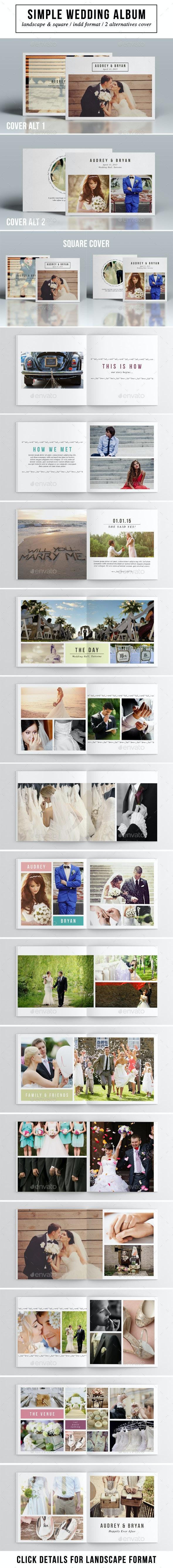 Simple Wedding Album - Photo Albums Print Templates
