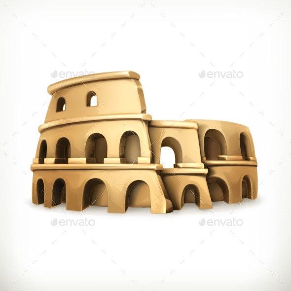 Colosseum Vector Icon - Vectors