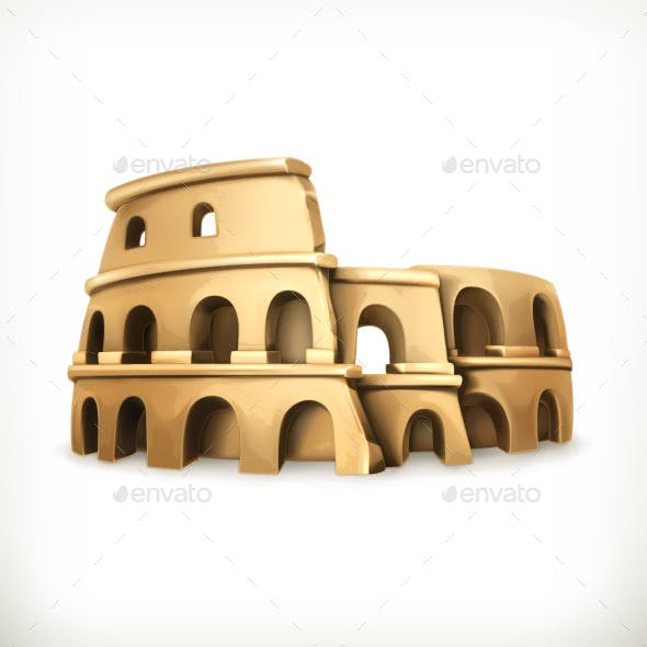 Colosseum Vector Icon