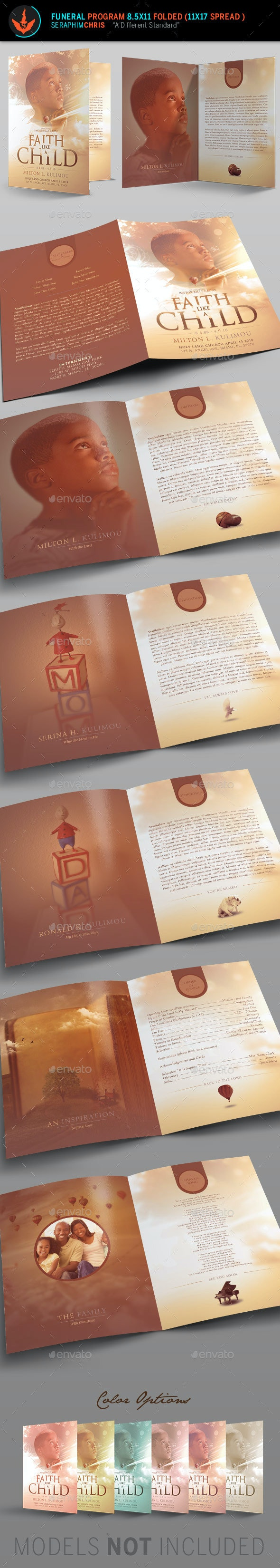 Child Funeral Program Template - Informational Brochures