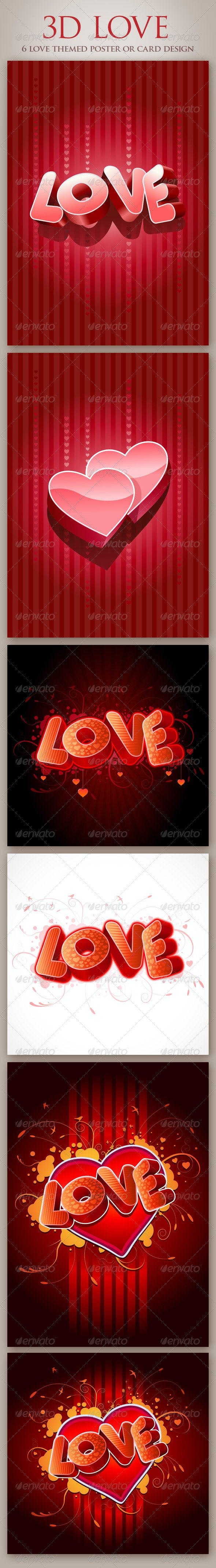 3D Love - Valentines Seasons/Holidays