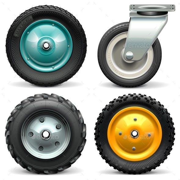 Vector Wheelbarrow Wheel