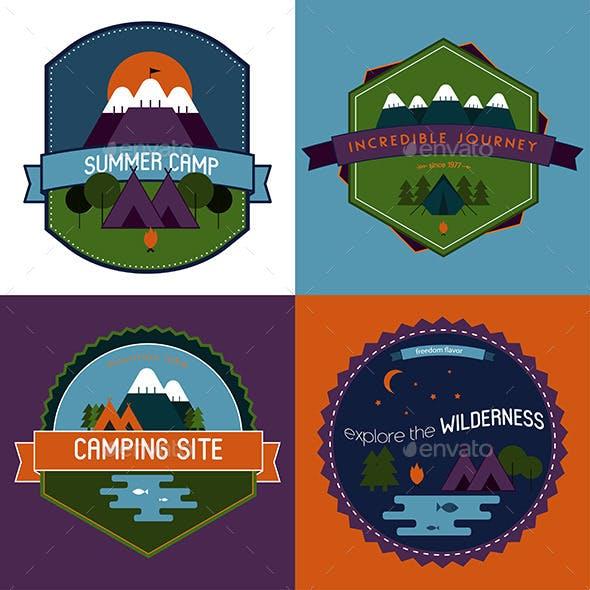 Camping Badges Set