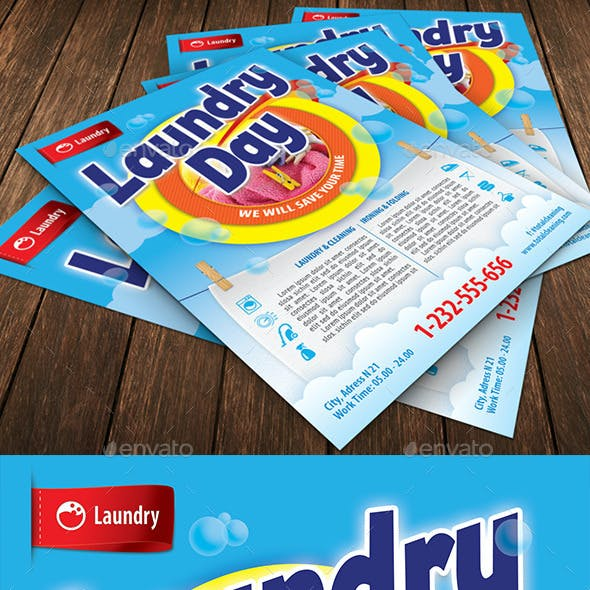 Laundry Service Flyer Template 112