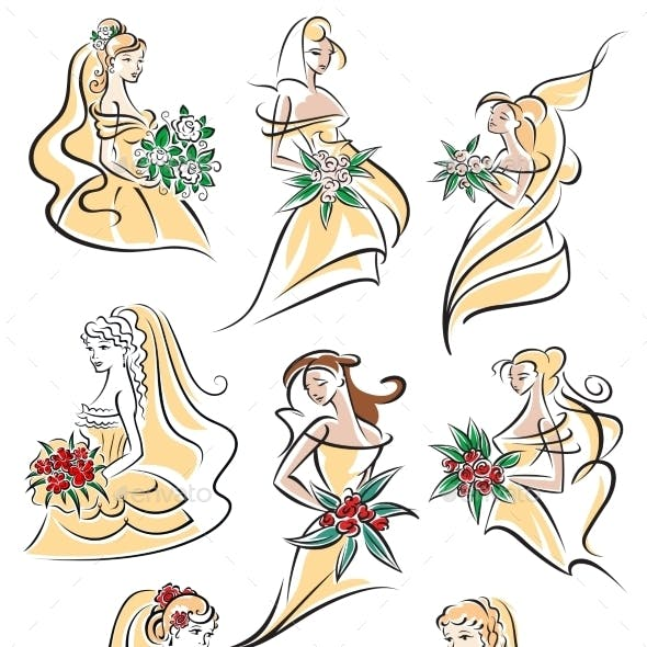 Brides In Yellow Wedding Dresses