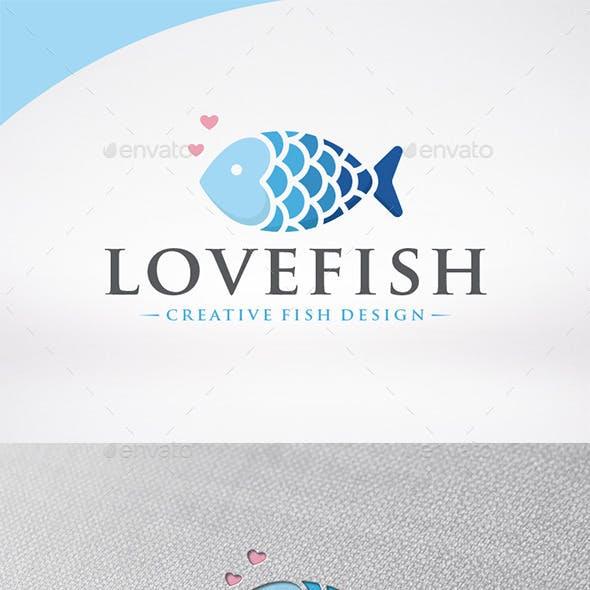 Love Fish Logo Template