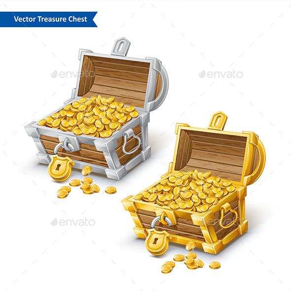 Treasure Chest with Golden Coin