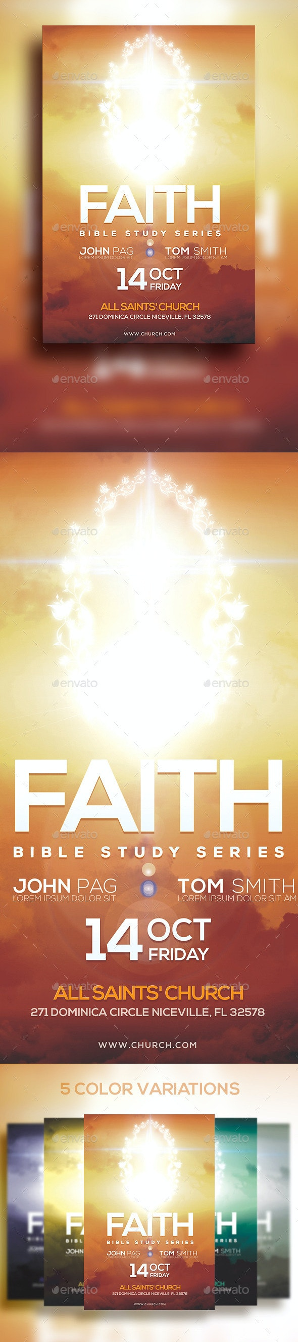Faith Bible Study Series - Church Flyers