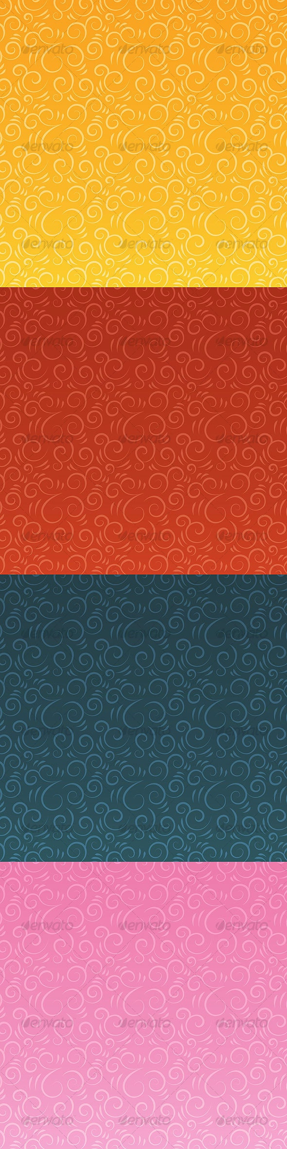 Swirlush vector patterns - Patterns Decorative