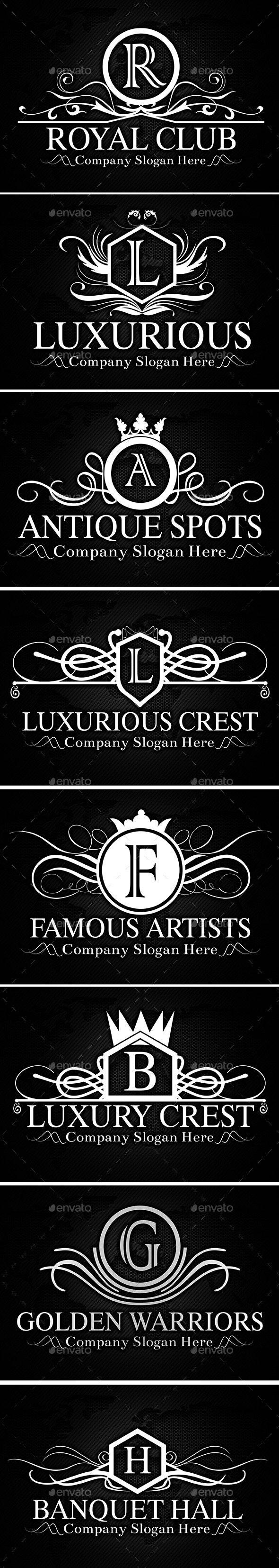 Heraldic Crest Logos - Badges & Stickers Web Elements