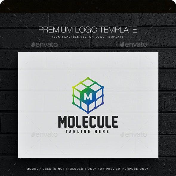 Molecule - Letter M Logo