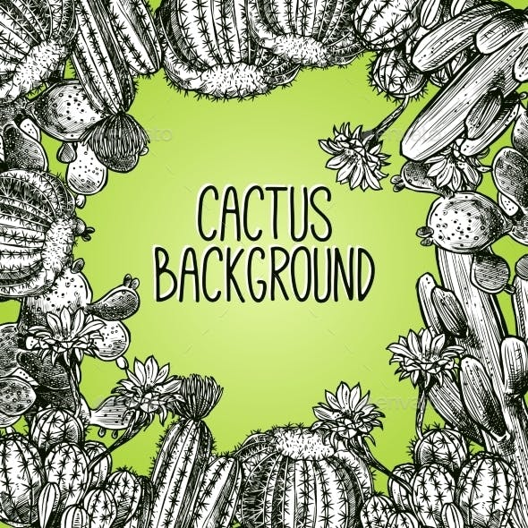 Cactus Sketch Frame