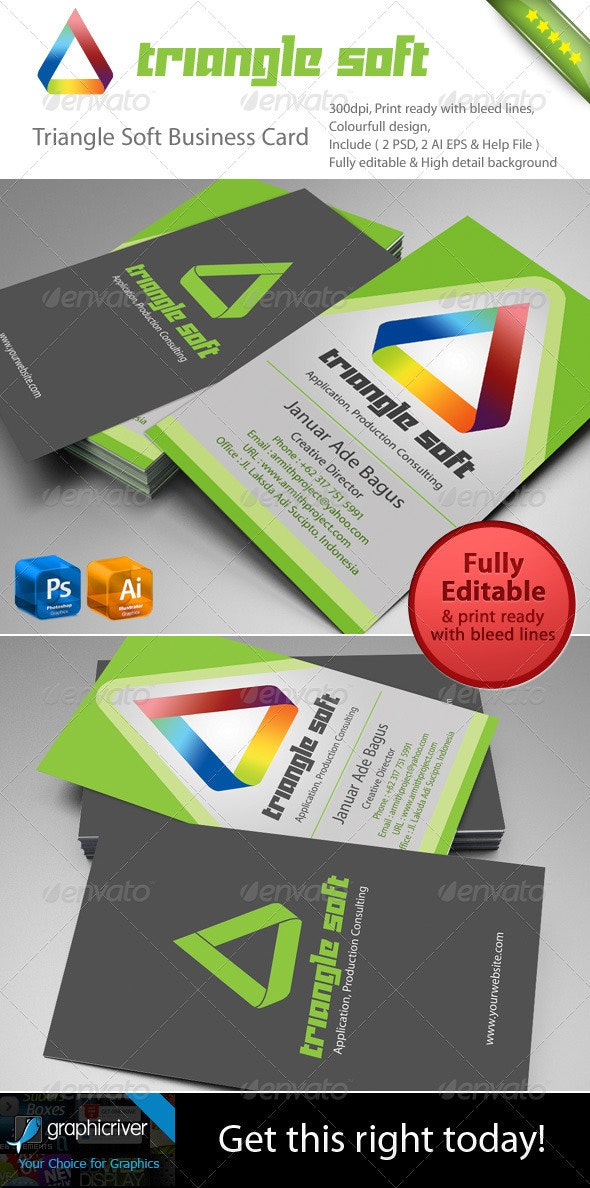 Triangle Soft Business Card - Creative Business Cards