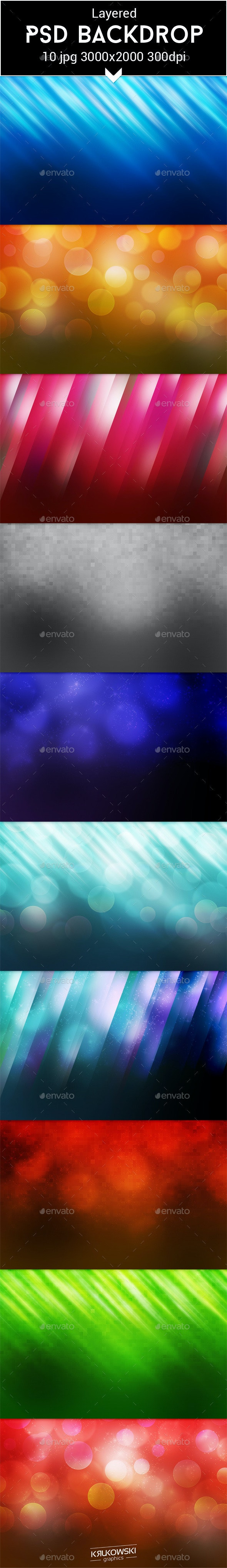 Web PSD Backdrop - Abstract Backgrounds