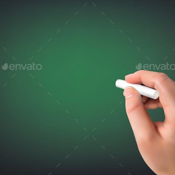 Hand Writing on a Board