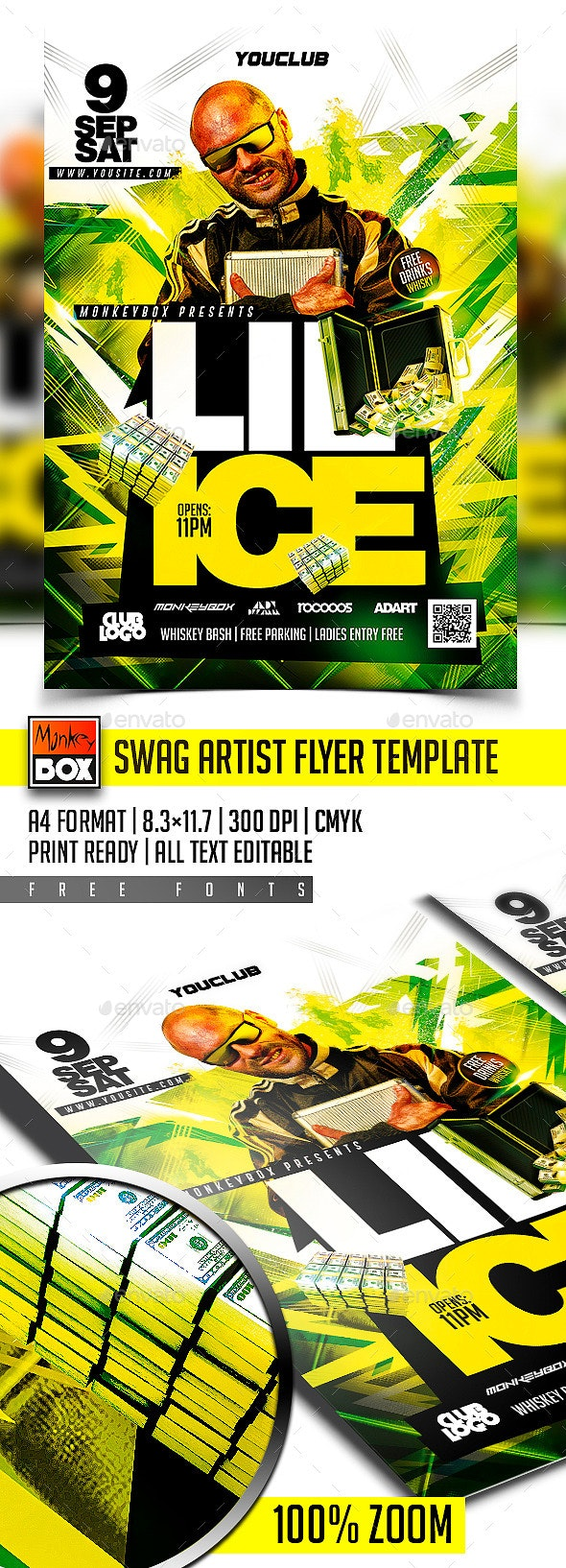 Swag Artist Flyer Template - Clubs & Parties Events