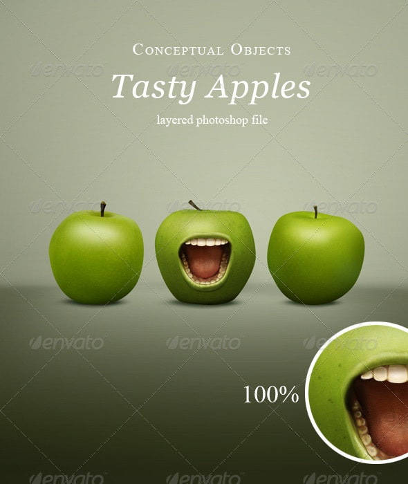 Hungry Apples - Objects Illustrations