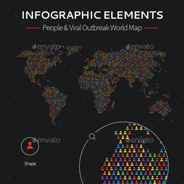 Vector Infographic Map Elements