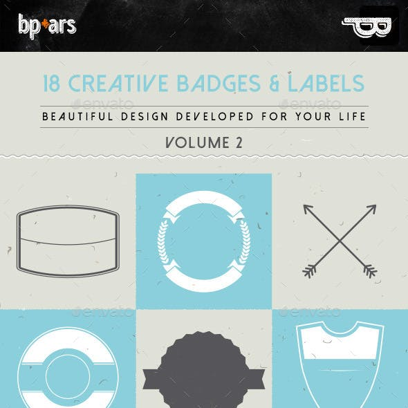 18 Creative Badges and Labels | volume II