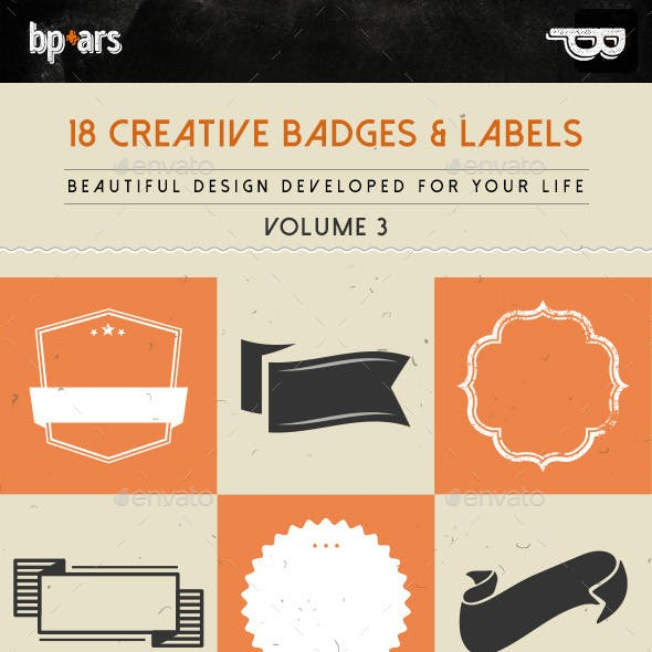 18 Creative Badges and Labels | volume III