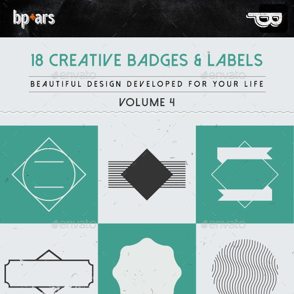 18 Creative Badges and Labels | volume IV