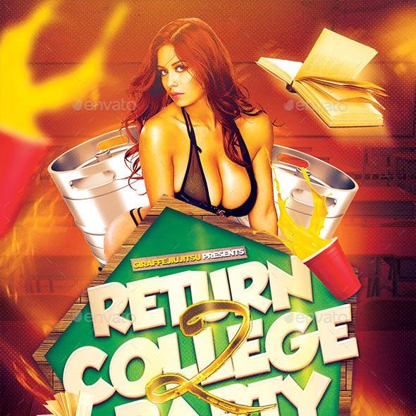 Return 2 College Flyer Template