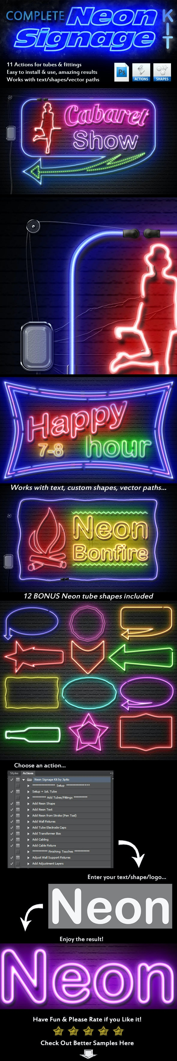 Complete Neon Signage Kit - Utilities Actions
