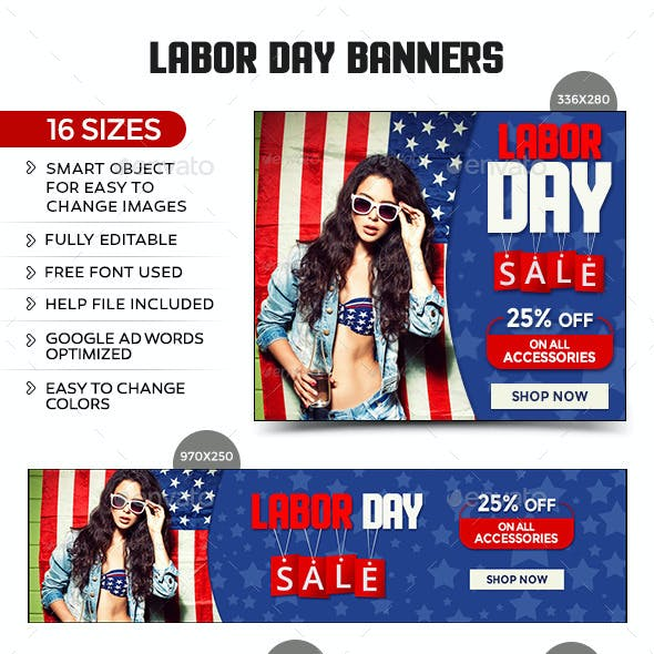 Labor Day Sale Banners