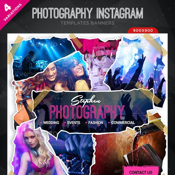 Photography Instagram Templates - 4 Designs