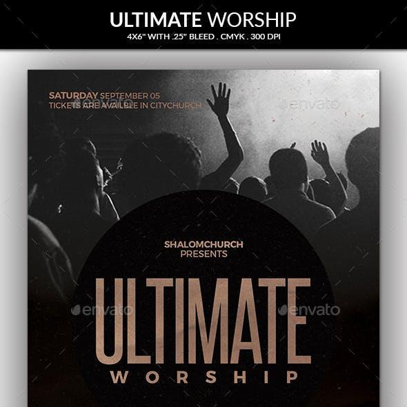 Ultimate Worship Church Flyer